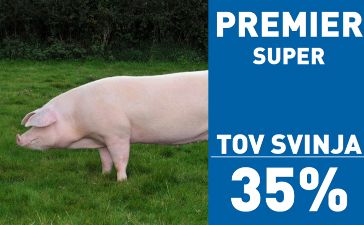 Supplementary feed for fattening pigs
